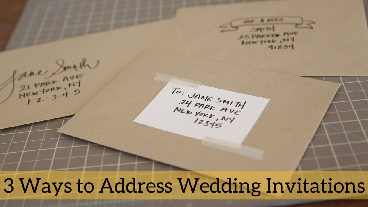 3 Ways To Address Wedding Invitations Youtube
