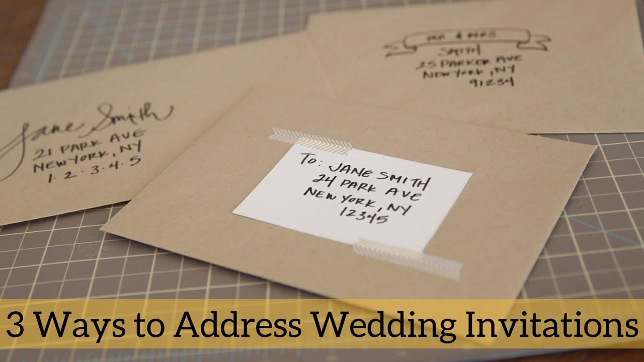 3 Ways To Address Wedding Invitations