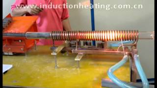 electromagnetic induction heating machine  heated 30mm diameter steel rods hot forging