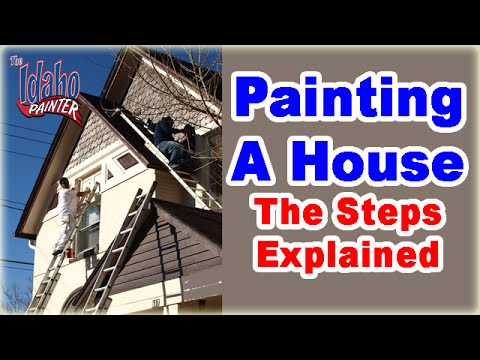 How To Paint A House.  Powerwashing, Prepping, & Painting a House.  DIY tools & tips for painters.
