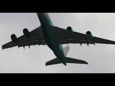 Airshow Paris 2019 Le Bourget incredible A380  Sunday 23 june display in flight from take off to lan
