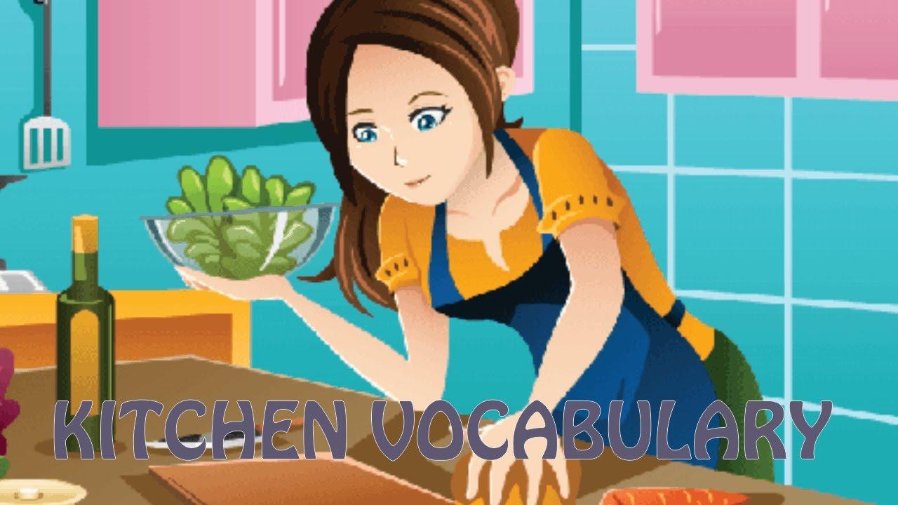 Learn English 5 - Kitchen Vocabulary [British & American English ...