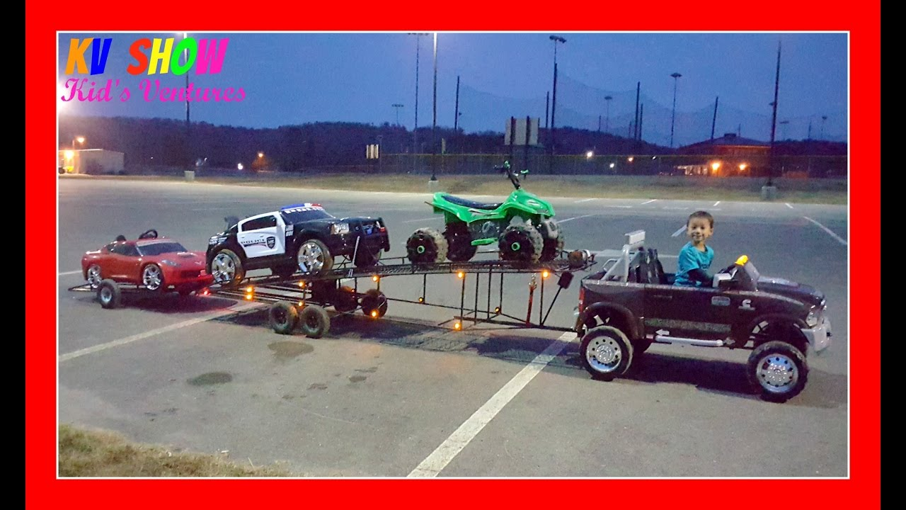 Power Wheels Tractor Pull : Toy gooseneck flatbed trailers wow