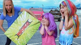 CRAZY CAR STORE ~ Addy and Maya WIN a FAKE Contest !!!