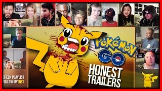 POKEMON GO (Honest Game Trailers) Reactions Mashup