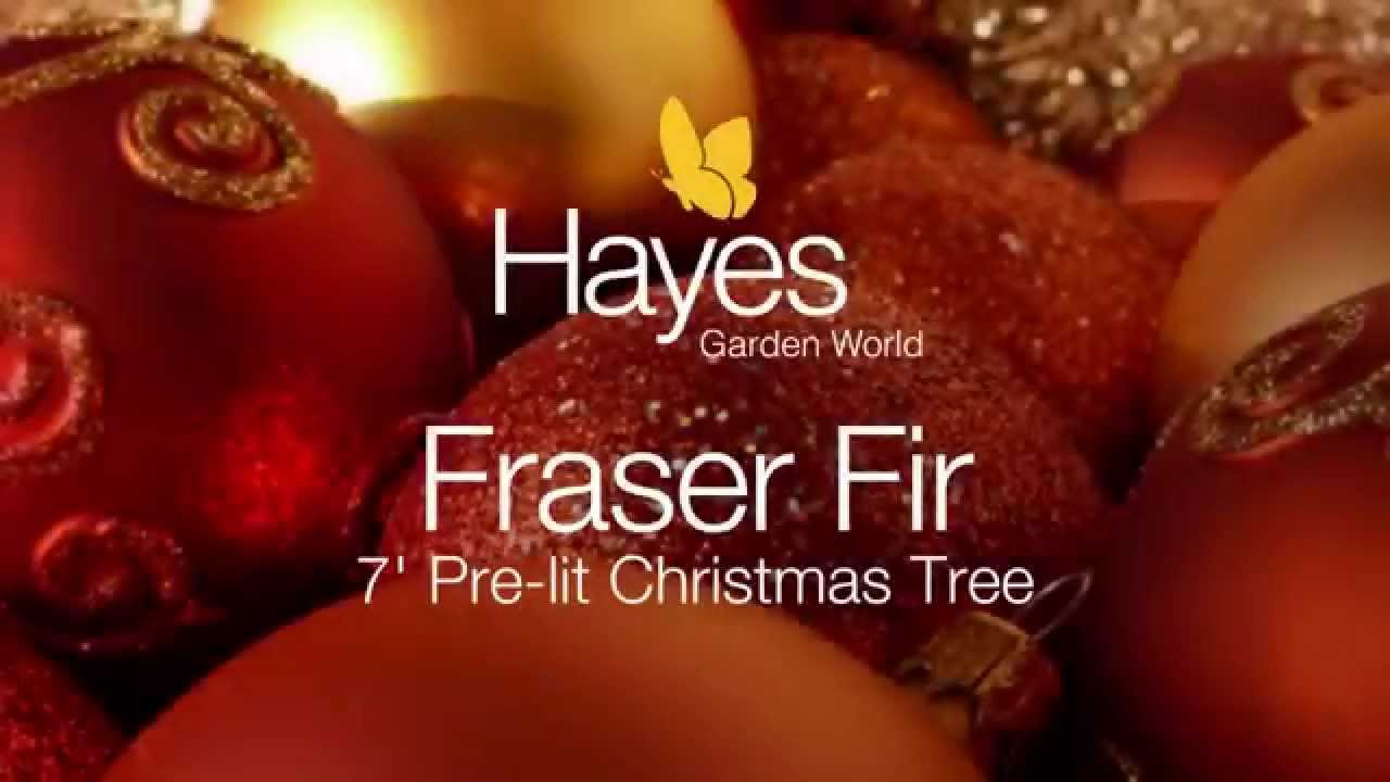 National Tree Fraser Fir 7 ft Pre lit - YouTube