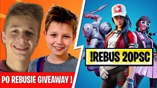 ⚡FORTNITE CUSTOMY O 20PSC | REBUS | GIVEAWAYE ❤️ - Na żywo