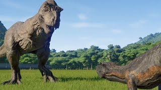 T-Rex(Modified) VS I-Rex, I-Raptor, Spinosaurus, Carnotaurus and Allosaurus - JWE Mp3