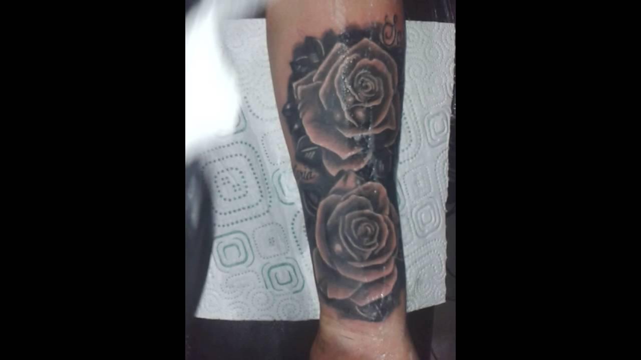 Tatuajes En El Brazo Sombras tatuajes afa rosas sombras - youtube