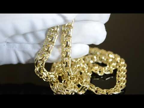 Мужская цепочка из жёлтого золота плетения Бисмарк Ручной (вес 78,4 гр.)  Цепочка из желтого золота. Золотая цепочка эксклюзивное плетение Краб  Большой ... 2bae7956ddb