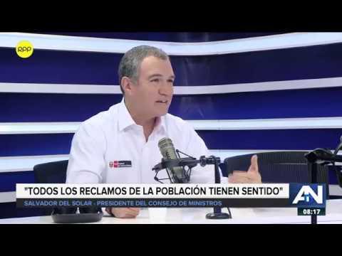 """Salvador Del Solar sobre 'Tía María' : """"Todos los reclamos de la población tienen sentido"""""""