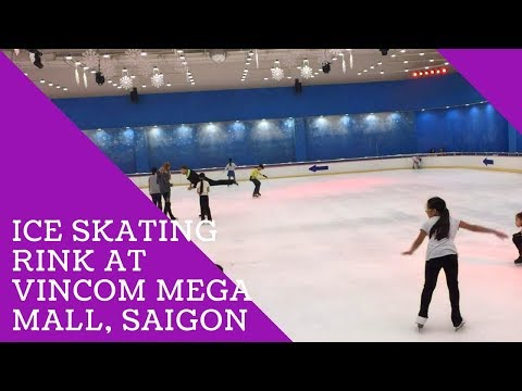 Go ice skating rink at ice rink backyard at Vincom Mega Mall, Saigon - Ho Chi Minh City - Vietnam