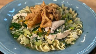 How To Make Chicken Noodle Soup With Chicken Chips | Rachael Ray
