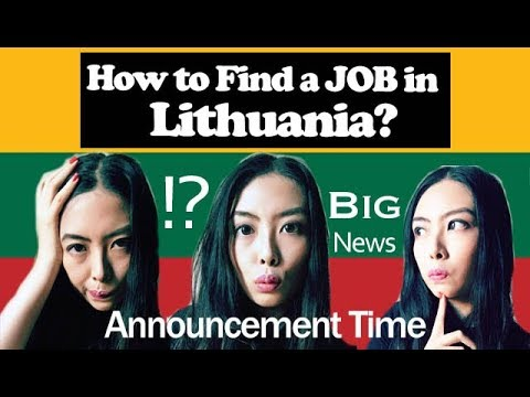 How To Find A Job In Lithuania (and Big Announcement) | Frances In Lithuania