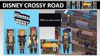 Disney Crossy Road Pirates of the Caribbean (Jack Sparrow, Will Turner, Elizabeth Swann, Barbossa)