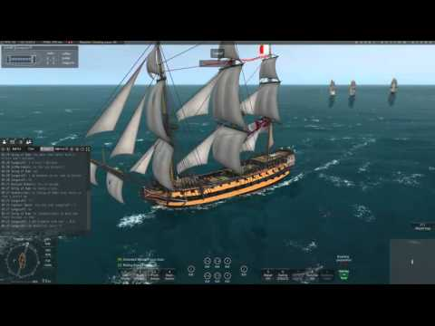 Naval Action Game - Ep 8. Britian 3rd Rate vs USA Fleet