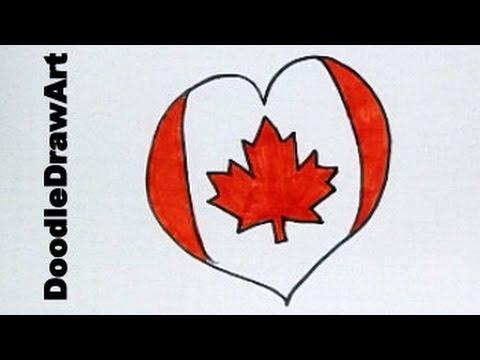 Happy Canada Day! - Draw A Canadian Maple Leaf Heart Flag!