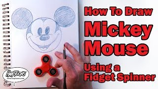 Draw Mickey Mouse Using a Fidget Spinner - Harptoons