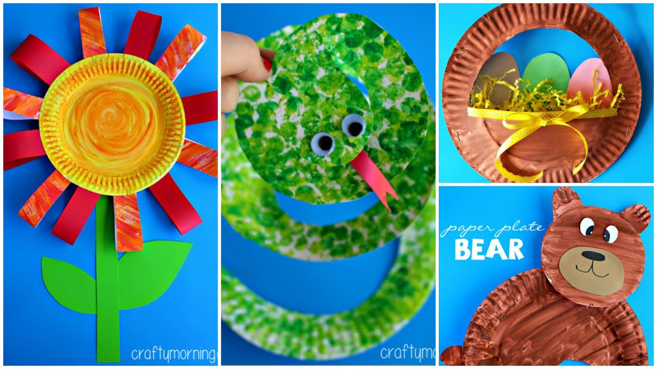 sc 1 st  YouTube & 15 Creative Paper Plate Crafts for Kids to Make - YouTube