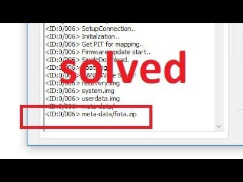 Odin stuck at Meta-data/Fota zip (solved)
