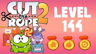Cut the Rope 2 - Level 144 (3 stars, 90 fruits, don