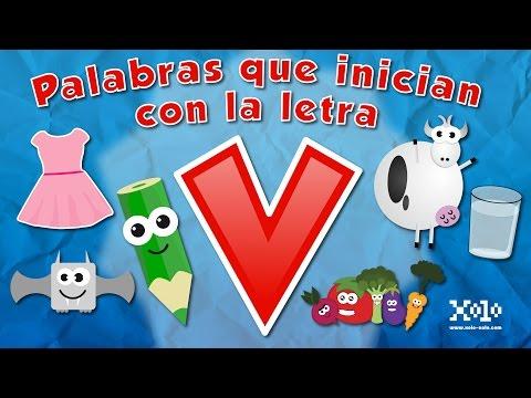 Palabras Que Inician Con La Letra V En Español Para Niños Videos