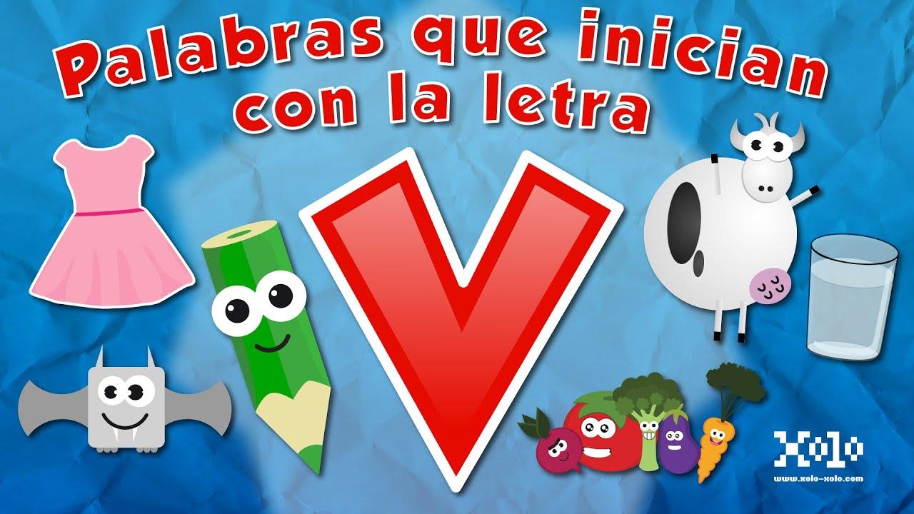 Words That Start With The Letter V In Spanish For Children Learn Videos