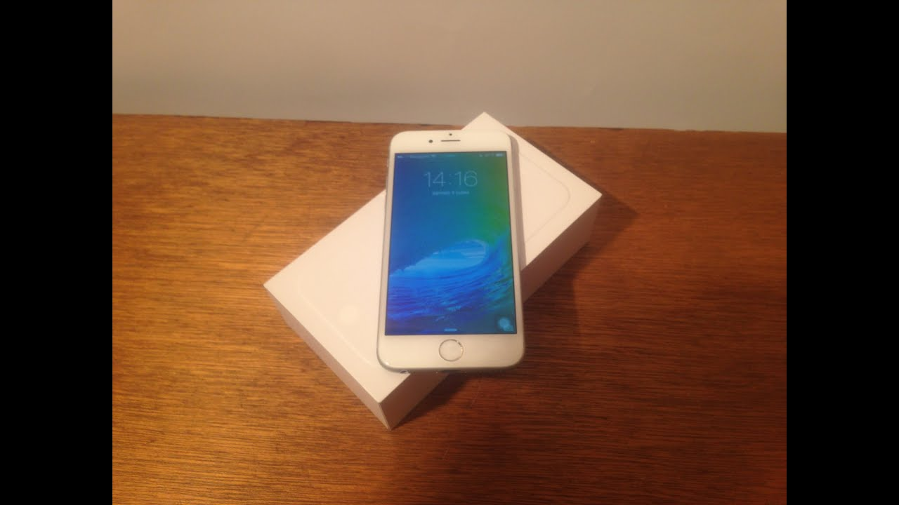 unboxing iphone 6 argent 64 go youtube