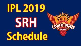 In This Video you Know SRH Team first 4 matches schedule in IPL 201...