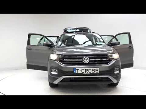 CMG VW SLIGO: NEW 2019 VW T-CROSS 1.0TSi 115BHP Manual Limestone Grey / Cloth Interior