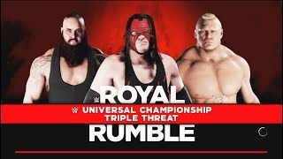 Kane vs.Brock Lesnar vs Braun Strowman- :Universal Championship Match-WWE-2K18-Gameplay thumbnail