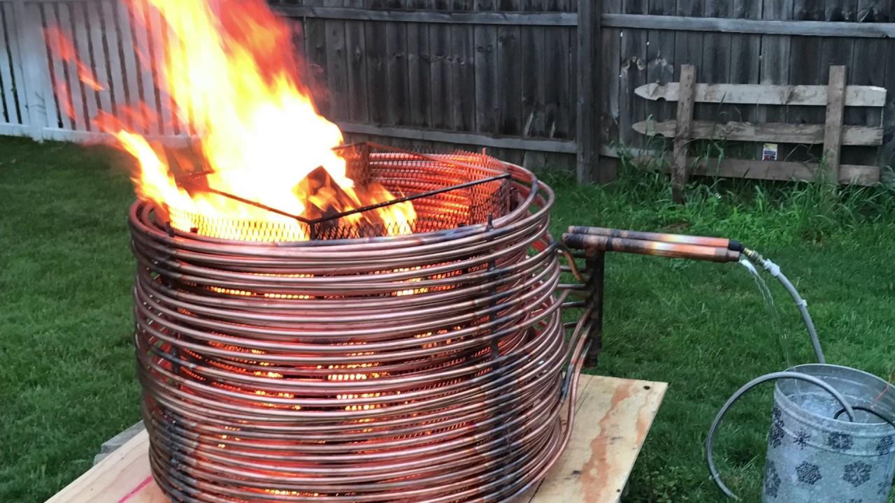Wick N Hardy Fire Pit Pool Heater Part 1 Youtube
