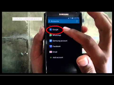 Samsung Galaxy S5 : How to logout gmail (Android Phone)