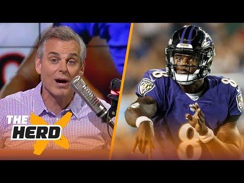 Colin Cowherd doubles down on the Lamar Jackson - Tim Tebow comparison   NFL   THE HERD