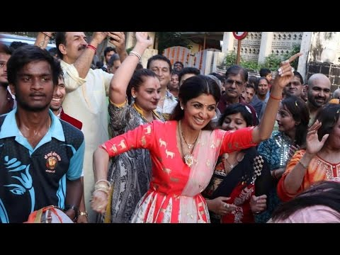 Best Nasik Dhol Celebration At Ganpati Visarjan With Shilpa Shetty And Family