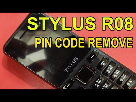 STYLUS R08 PIN CODE REMOVE
