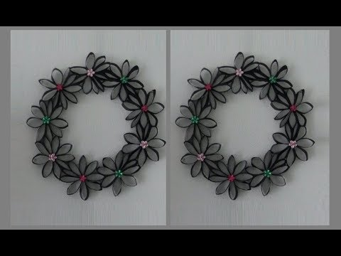 DIY: Wreath Made out of Toilet Paper Rolls by {MadeByFate} #16