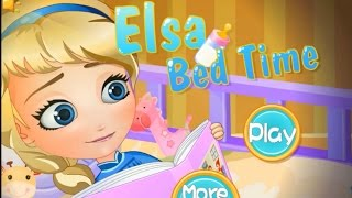 Elsa Bed Time-baby Elsa Game-frozen Movie Princess