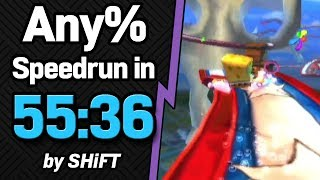 SpongeBob SquarePants: Battle for Bikini Bottom Any% Speedrun in 55:36 (WR on 8/13/2018)