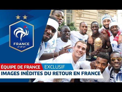 France: Exclusive images of Les Bleus' triumphant return | FFF 2018