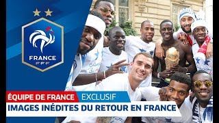 France: Exclusive images of Les Bleus' triumphant return | FFF 2018
