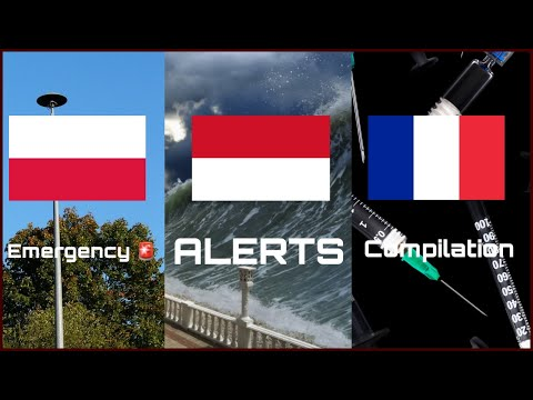 Emergency Alerts around the world! COMPILATION PART 5 (subscriber requests!)