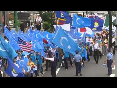 Çin'in Uygur politikalarına Japonya'da protesto