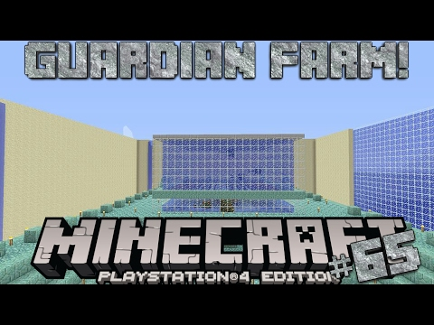 Minecraft PS4 Survival #65 | Guardian Farm