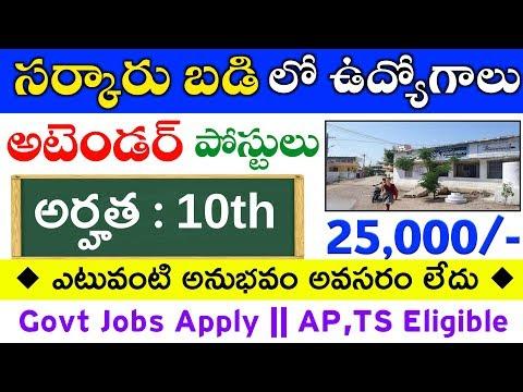 Latest Jobs Information In Telugu || 10th Pass Attender Govt Jobs 2019 || Free Jobs Information