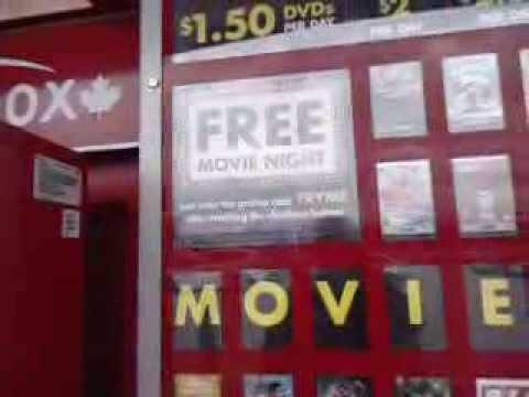Redbox DVD Rental Movies Walmart Garrison Rd Thompson Rd Fort Erie Ontario Canada