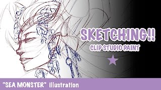 Clip Studio Paint Sketching - Seamonster