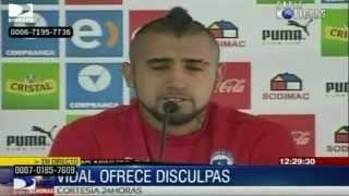 فيديو .. آرتورو فيدال يعتذر بعد الحادث والدموع تنهمر من عينيه