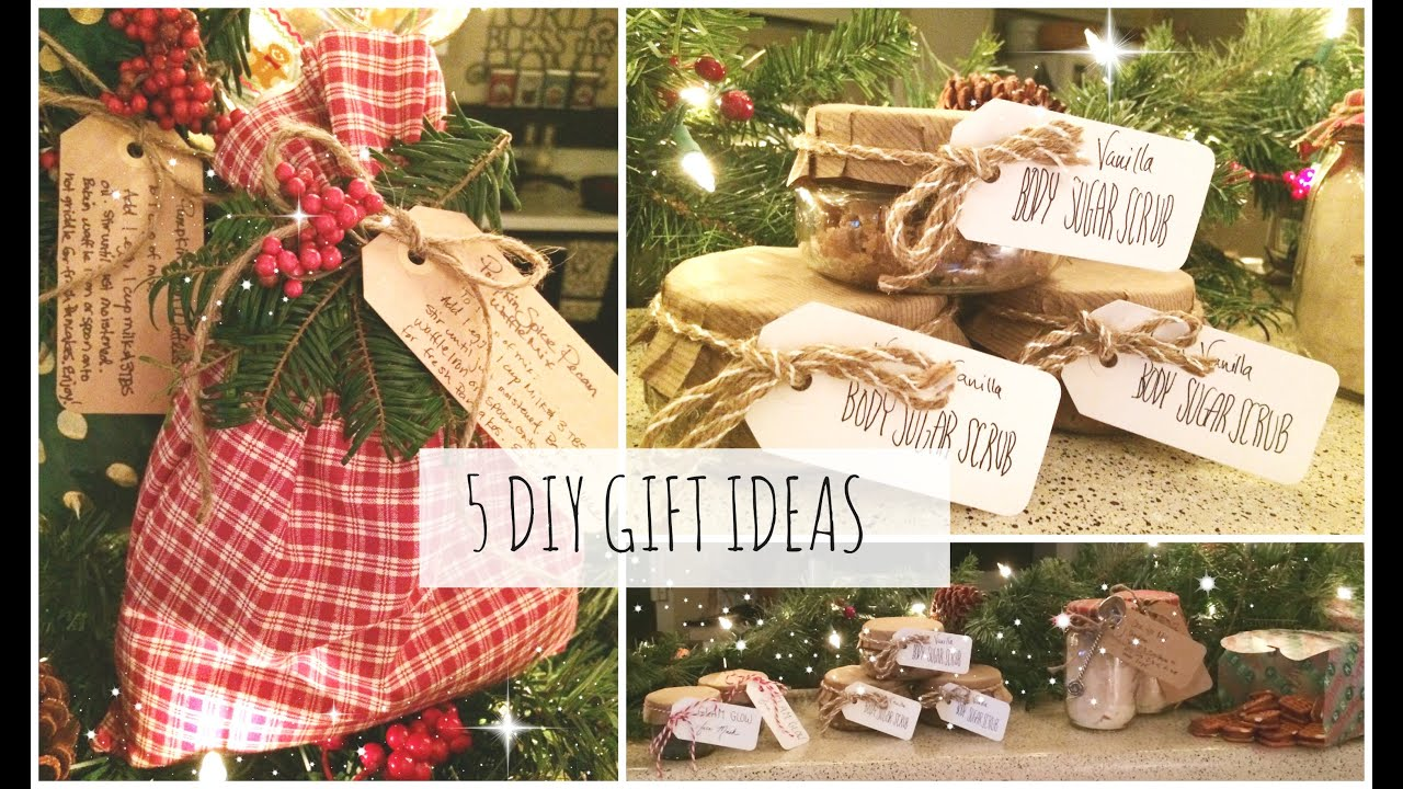5 DIY Christmas Gift Ideas! Easy & Affordable | SoJustine - YouTube