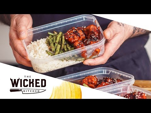 Vegan Chinese BBQ Take-Away High Protein Meal Prep | The Wicked Kitchen